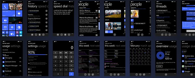 Windows Phone 8.1 UI Kit Sketch