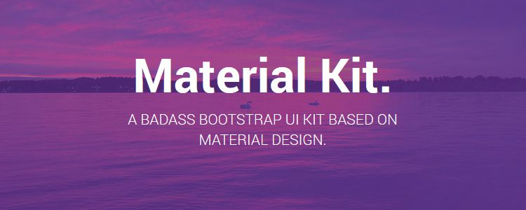 Material Bootstrap UI Kit HTML