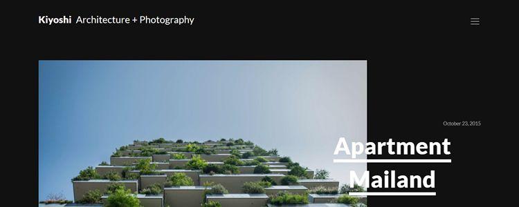 Kiyoshi Free Minimal Architecture Photography Theme WordPress