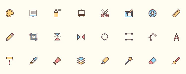 40 Free Icons for Designers AI EPS SVG PNG