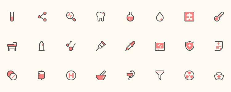 40 Health Icons AI EPS PNG