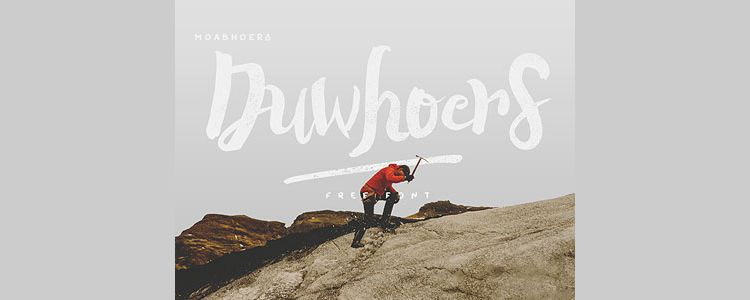 Free Duwhoers Brush Font