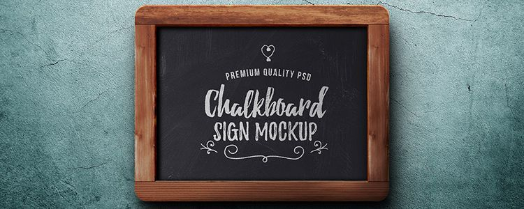 Chalkboard Sign Mockup Photoshop
