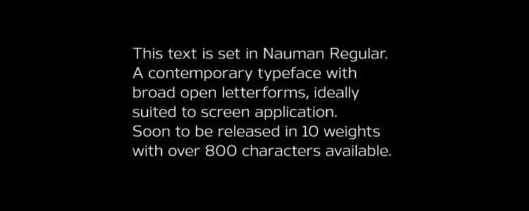 Nauman Modern Humanist sans serif free font family typeface
