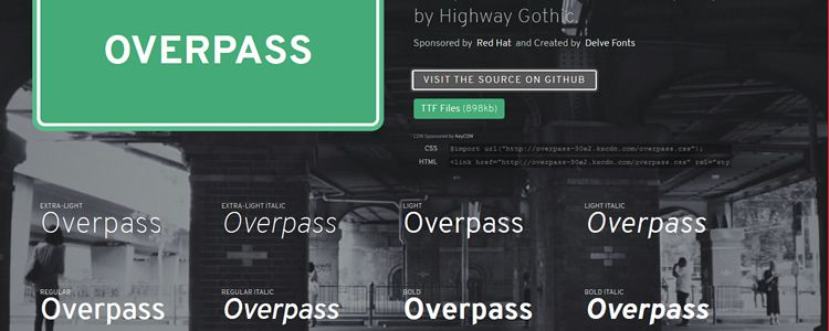 Overpass webfont sans serif free font family typeface