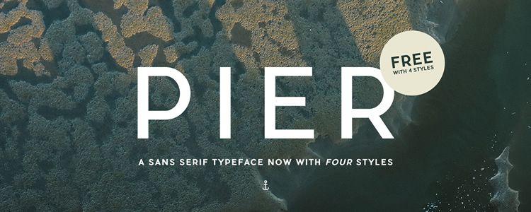 Pier Sans serif free font family typeface