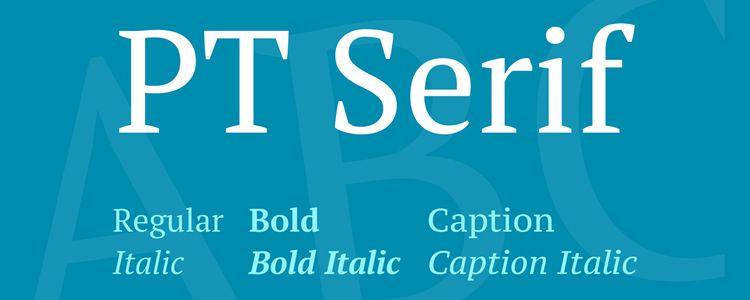 PT serif free font family typeface