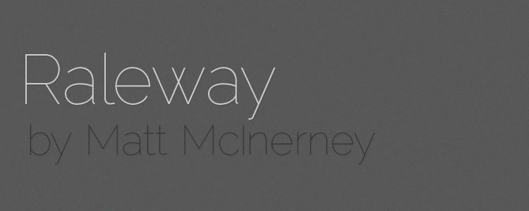 Raleway sans serif free font family typeface