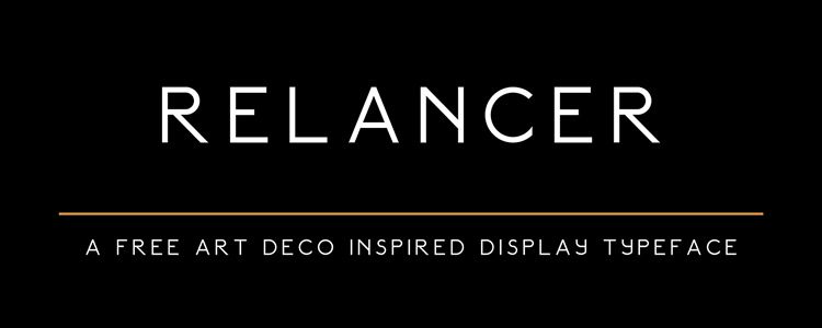 Relancer Art Deco Display sans serif free font family typeface