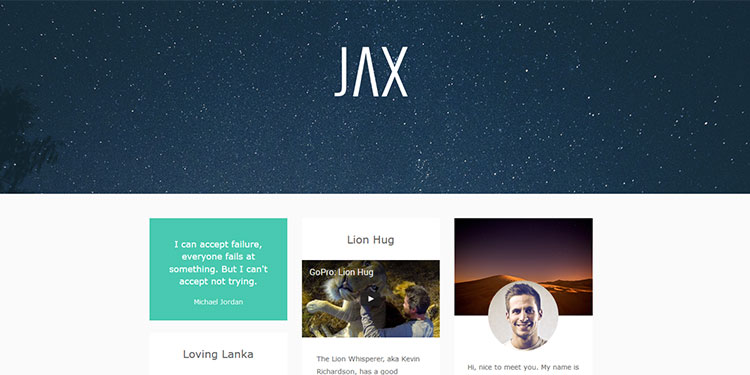 Jax WordPress Theme