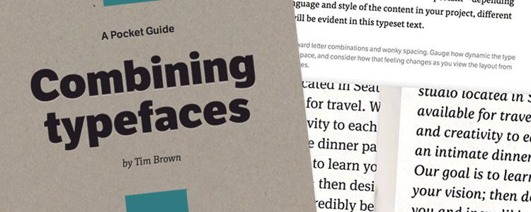 Combining Typefaces - A Free Guide to Great Typography