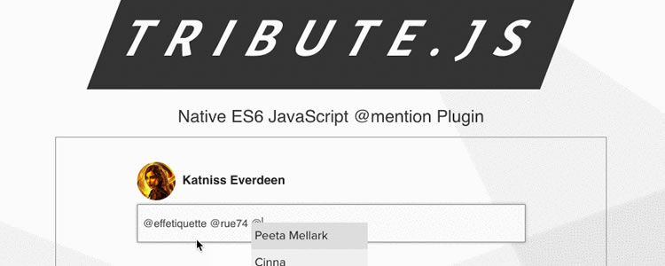 Tribute.js New Lightweight Easy Javascript @Mention Plugin