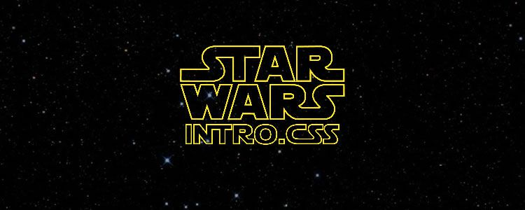 StarWarsIntro.css CSS Library Recreating tar Wars Intro Crawl