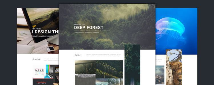 50 Clean Free Web Design Photoshop PSD Templates