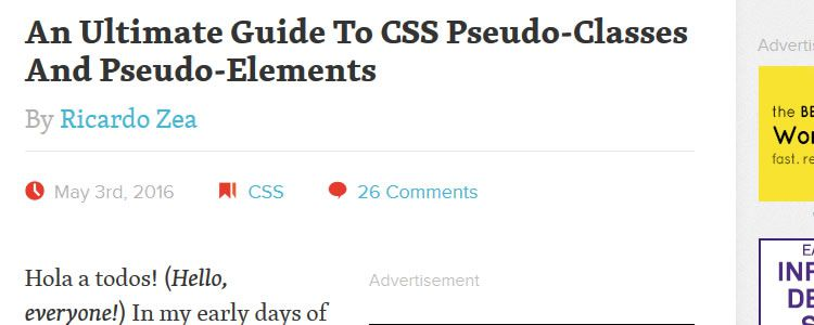 An Ultimate Guide To CSS Pseudo-Classes Pseudo-Elements