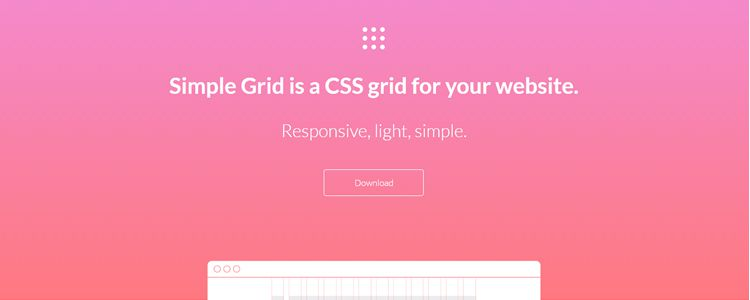 Simple Grid responsive light imple CSS grid website