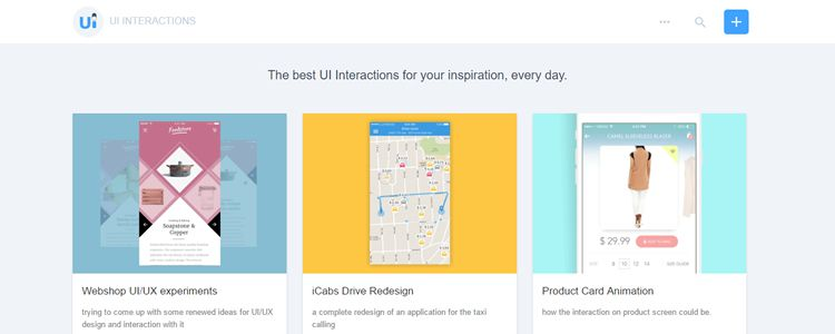 best UI Interactions for your inspiration