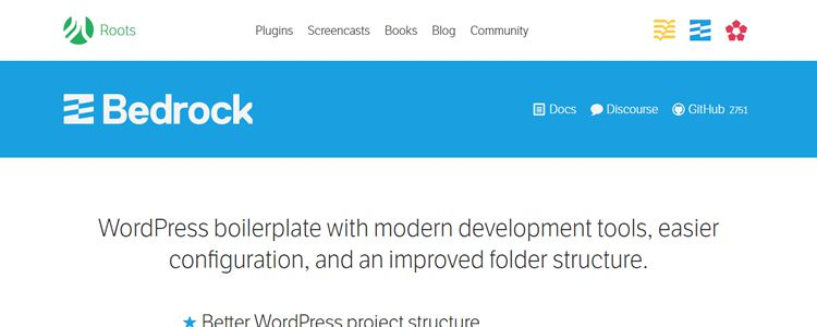 Bedrock WordPress boilerplate modern dev tools