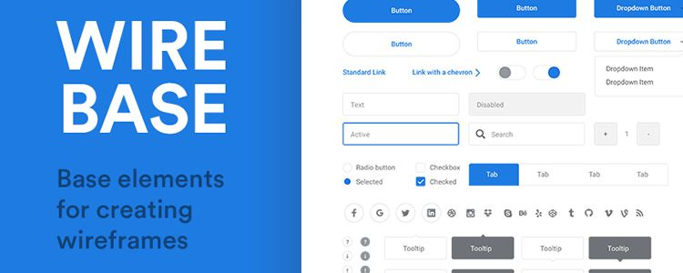 Freebie Wirebase Base Elements Creating Wireframes Sketch