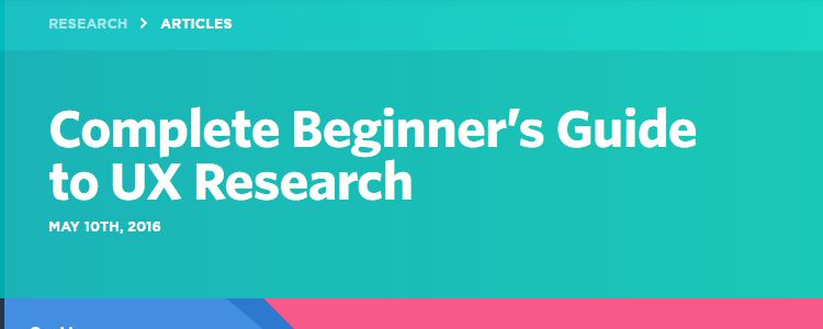 Complete Beginners Guide to UX Research