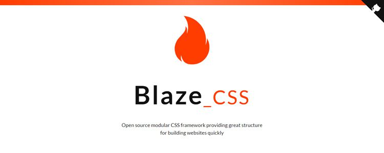 BlazeCSS Open source modular CSS framework building websites quickly