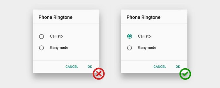 Radio Buttons UX Design