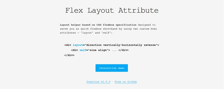 Flex Layout Attribute FLA CSS Flexbox layout helper