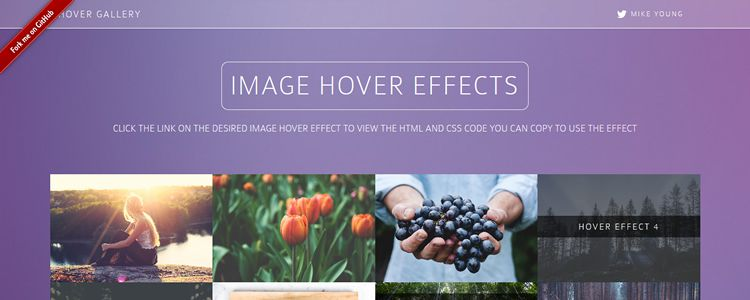 Bootstrap Hover Image Gallery hover effects