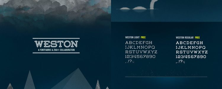 Weston Rounded slab free font family typeface