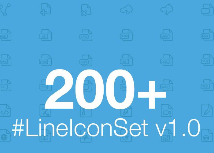 The Free Web and Mobile Line Icon Set v1.0 (200 Icons)