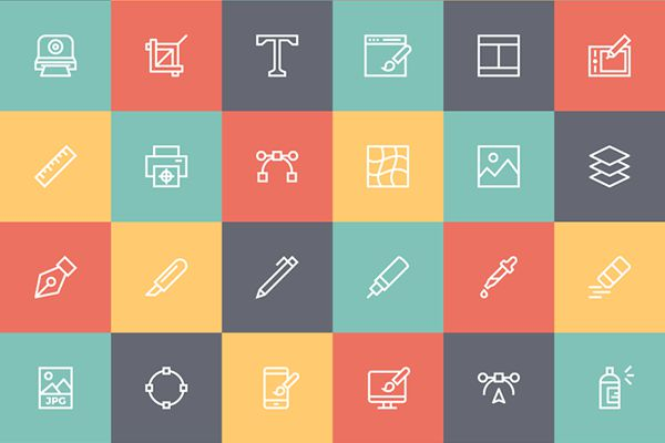 free line icon set for designers ai eps svg png