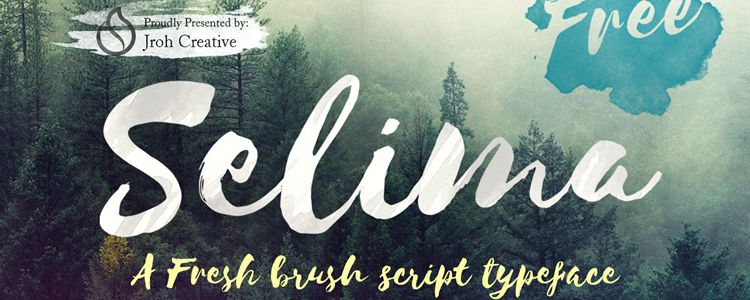 Selima Brush Script designer monthly free resources font typeface