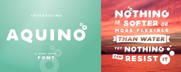 Aquino Bold Sans Serif designer monthly free resources font typeface
