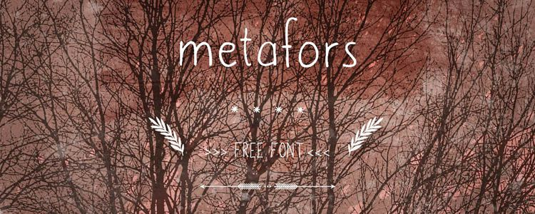 Metafors Hand Writing designer monthly free resources font typeface