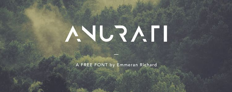 Anurati designer monthly free resources font typeface