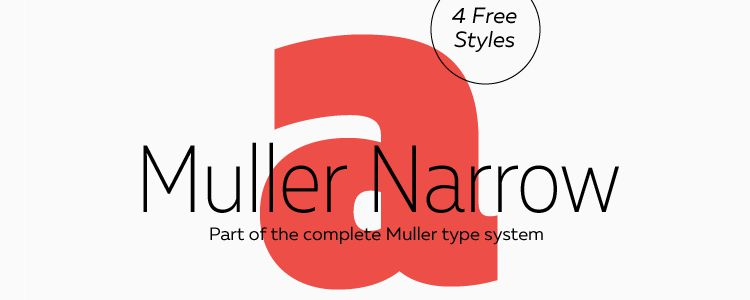 Muller Narrow designer monthly free resources font typeface
