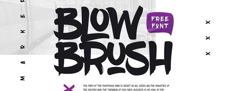 BlowBrush designer monthly free resources font typeface