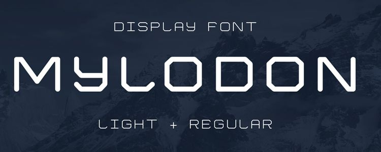 Mylodon designer monthly free resources font typeface