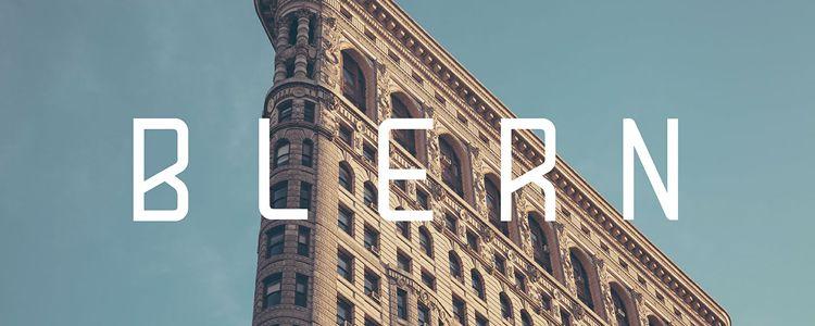 Blern designer monthly free resources font typeface