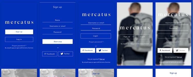 Mercatus sketch free resources ui kit template
