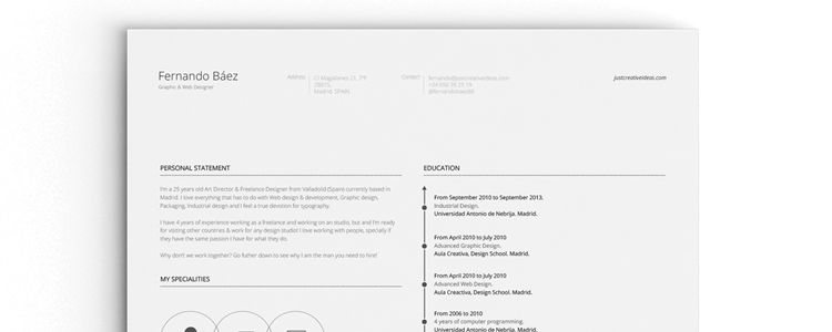 Cv Template Adobe Illustrator 20 Beautiful Free Resume Templates For Designers