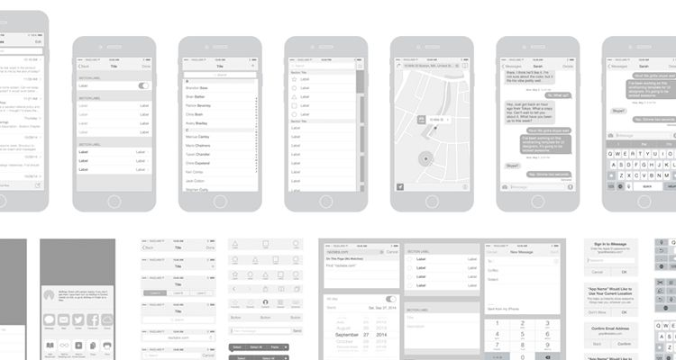50 free wireframe templates for mobile web and ux design for Powerpoint wireframe template for ui design
