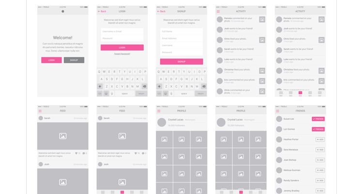 Snap iOS8 sketch photoshop ios iphone ipad mobile app free wireframe kit template UI design