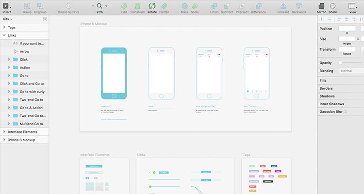 Wz Sketch Multi Purpose General Mobile App Free Wireframe Kit Template UI Design