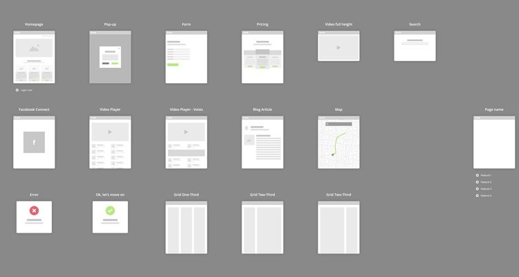 Flowchart Wireframe Set sketch ux flowchart userflow development free wireframe kit template UI design