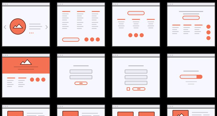 Wireflows Mini Web Wireframe Tiles psd photoshop ux flowchart userflow development free wireframe kit template UI design