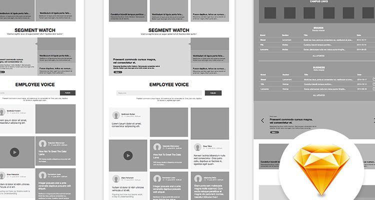 Website sketch web design development free wireframe kit template UI design