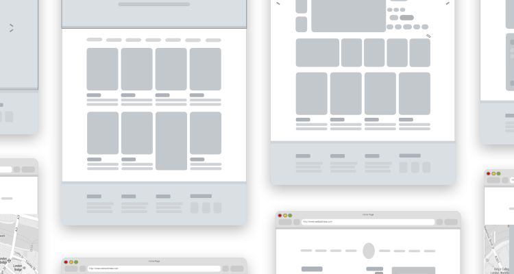 Mottom Simple ECommerce Sketch Web Design Development Free Wireframe Kit Template UI
