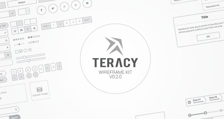Teracy Sketch Web Design Development Free Wireframe Kit Template UI