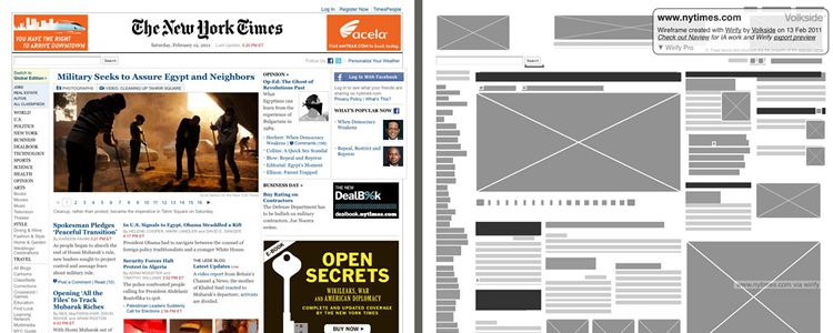 Wirify A bookmarklet turn any web page into wireframe designer news